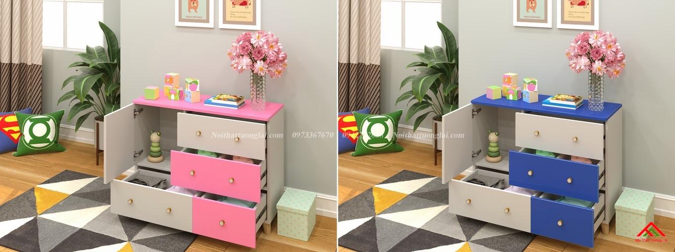 Tủ quần áo trẻ em sơ sinh đẹp QA6801 1