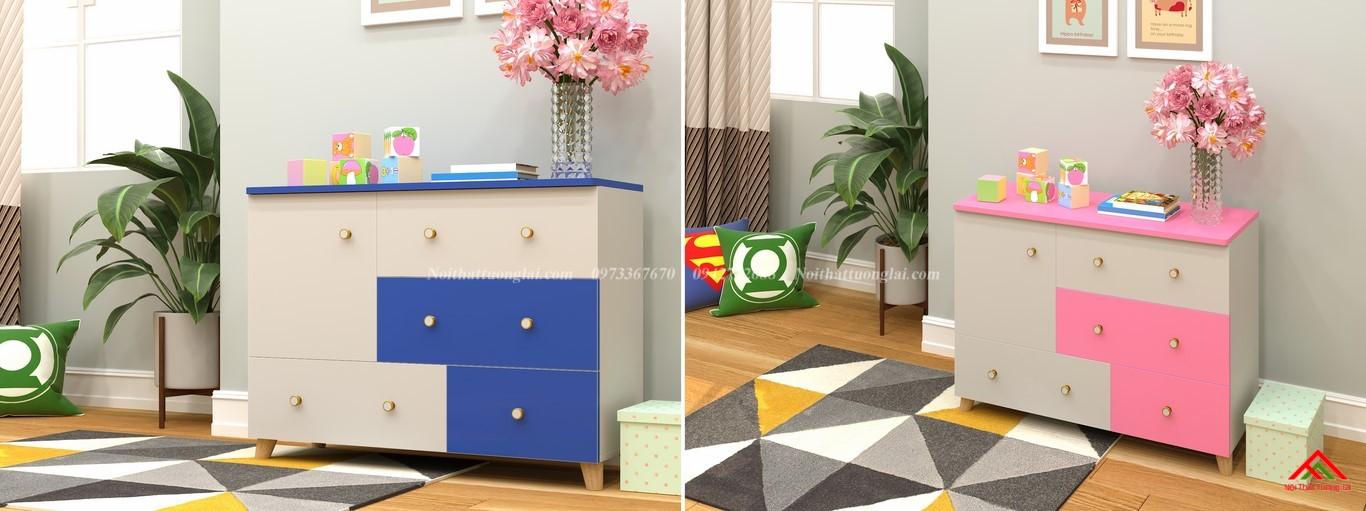 Tủ quần áo trẻ em sơ sinh đẹp QA6801 2