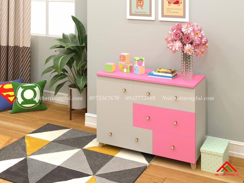 Tủ quần áo trẻ em sơ sinh đẹp QA6801 4