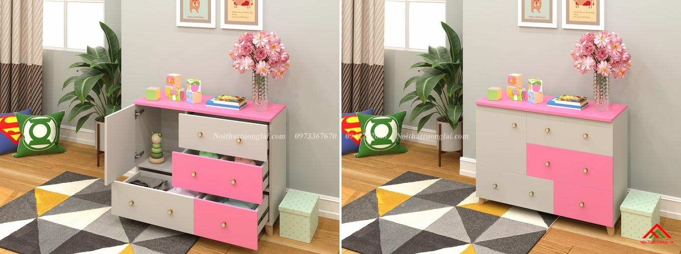 Tủ quần áo trẻ em sơ sinh đẹp QA6801 7