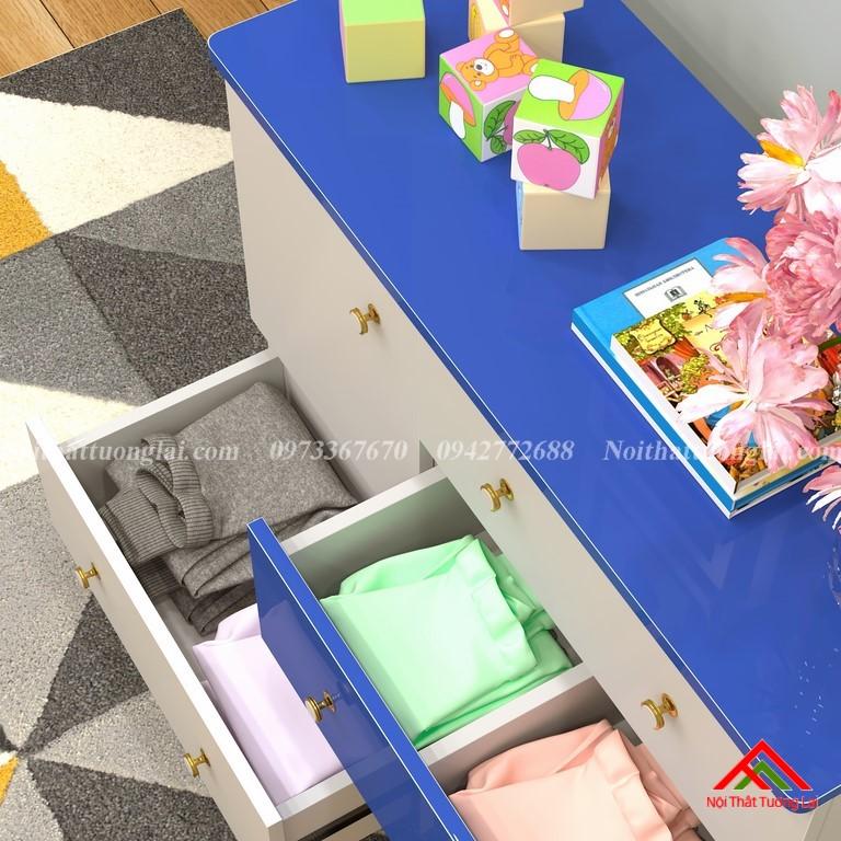 Tủ quần áo trẻ em sơ sinh đẹp QA6801 9