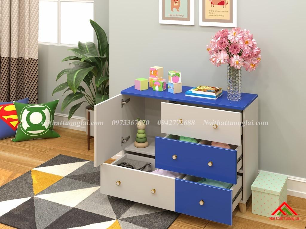 Tủ quần áo trẻ em sơ sinh đẹp QA6801 5