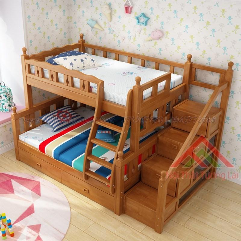 Mẫu giường tầng đẹp giá rẻ cho bé GT6823