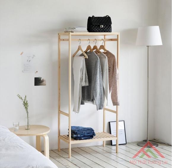 Tủ treo quần áo kiểu dáng Hàn Quốc, kích thước cao 150cm dài 66cm