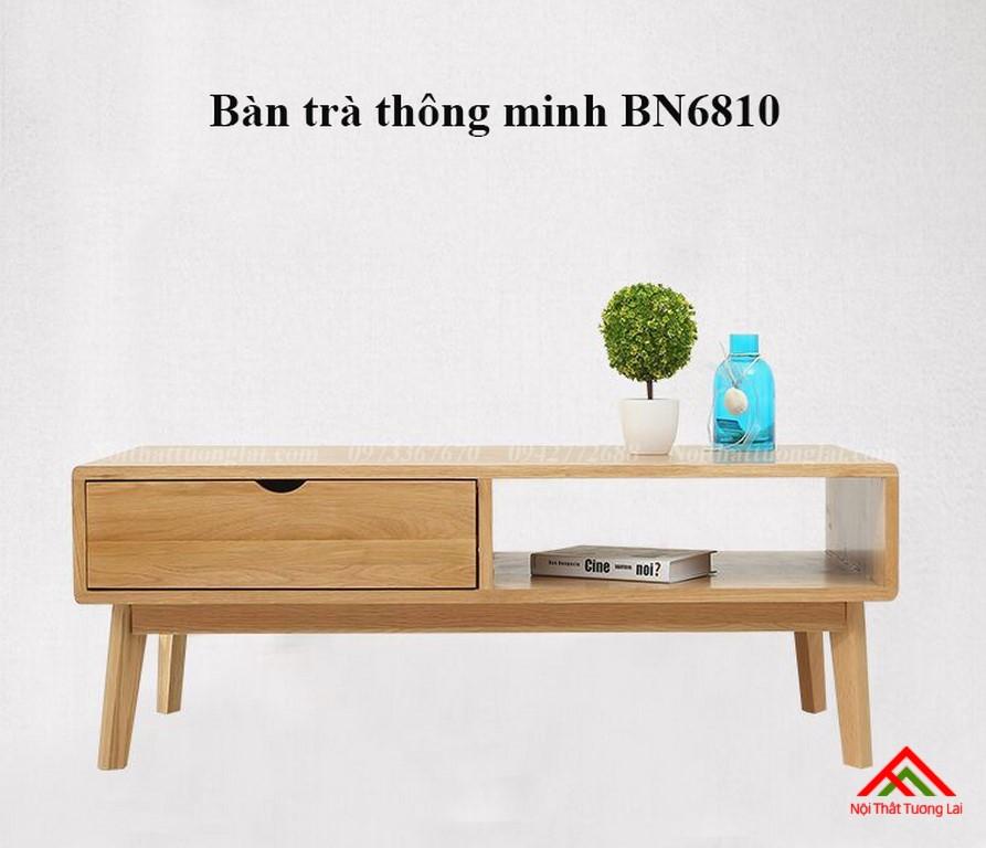 Bàn trà phòng khách thông minh BN6810 có ngăn lưu trữ đồ