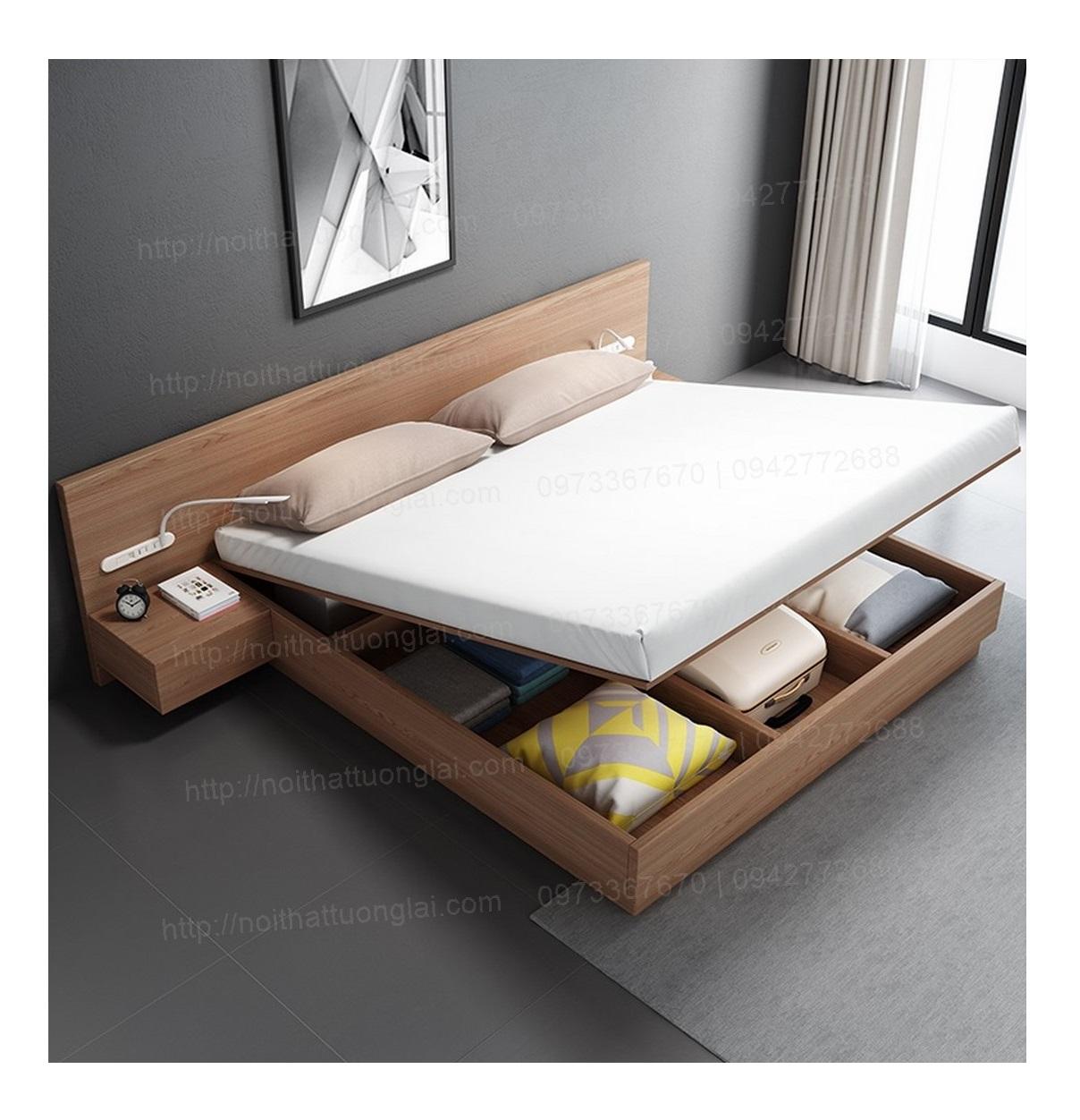 Mẫu giường ngủ đẹp hiện đại đa năng 2019