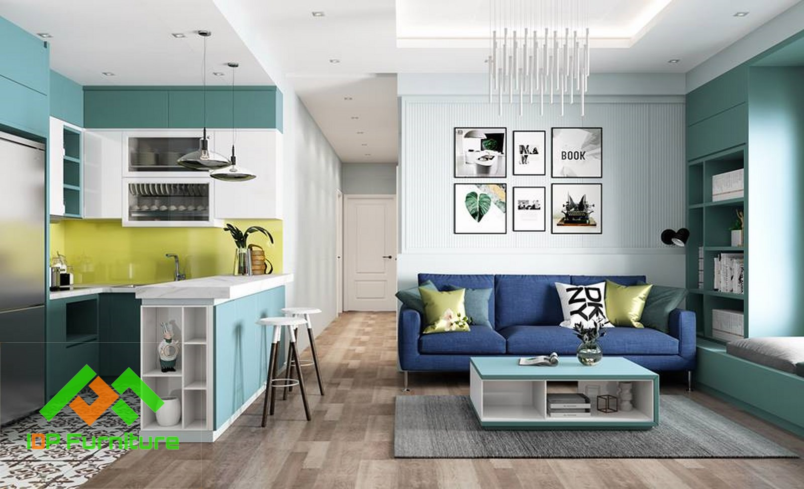Sofa nỉ cao cấp SF6804