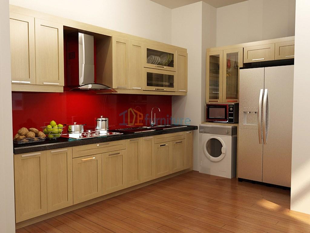Tủ bếp gỗ sồi Nga đẹp cao cấp TB6812