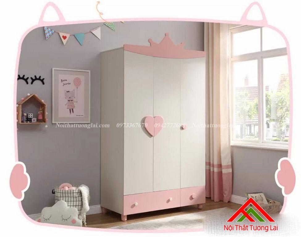 Tủ quần áo cho bé gái QA6806