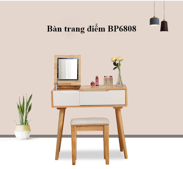 Bàn phấn thiết kế gương gập BP6808