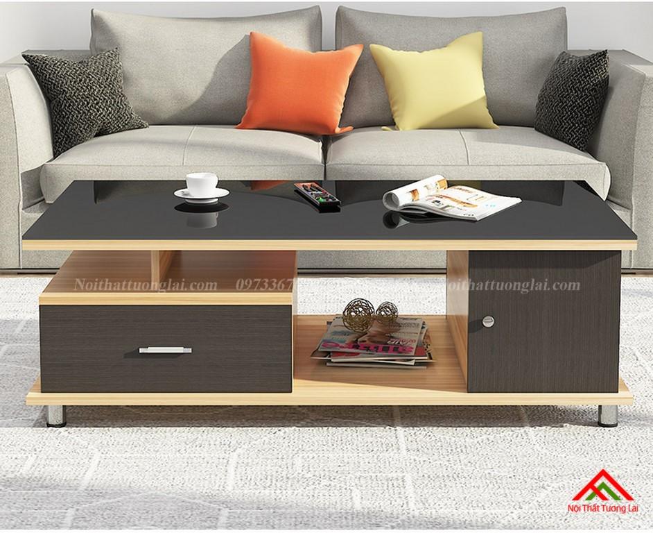 Bàn trà sofa mặt kính cường lực cao cấp BN6807