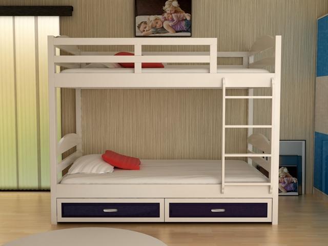 Giường 2 tầng trẻ em, giường tầng đẹp cho em bé GT6819