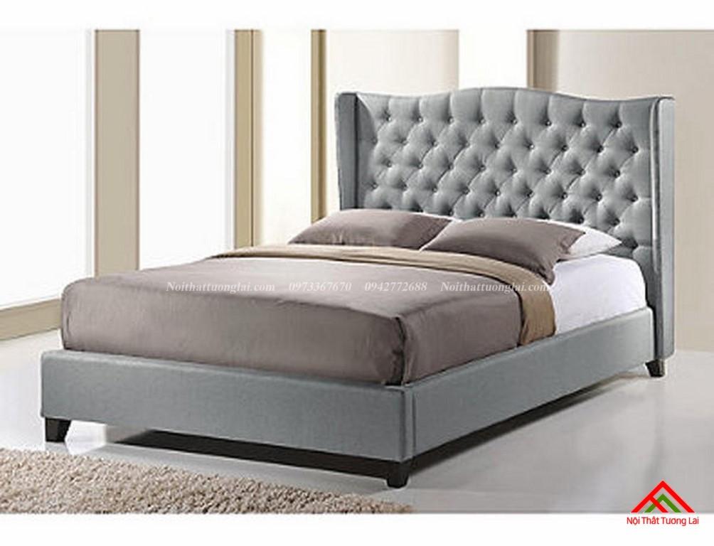Giường ngủ bọc da sang trọng GN6814