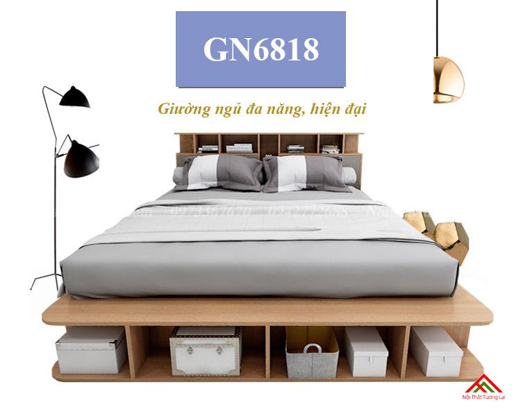 Giường ngủ đẹp, đa năng có hộp chứa đồ lớn GN6818