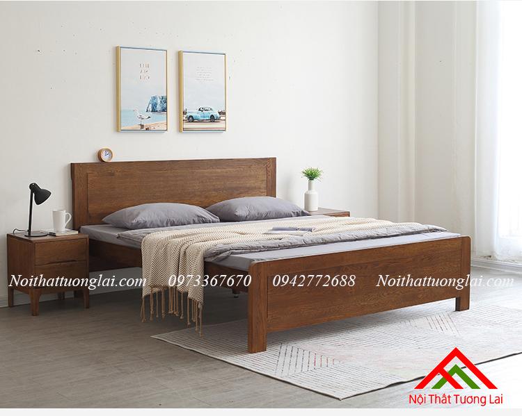 Giường gỗ sồi thiết kế thông minh GN6811