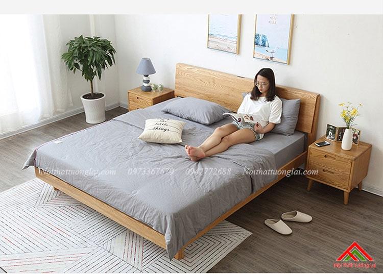 Giường ngủ gỗ sồi phong cách hiện đại GN6813