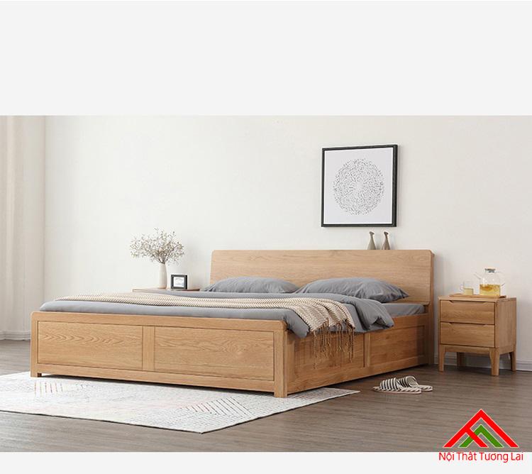 Giường ngủ gỗ sồi cao cấp GN6809