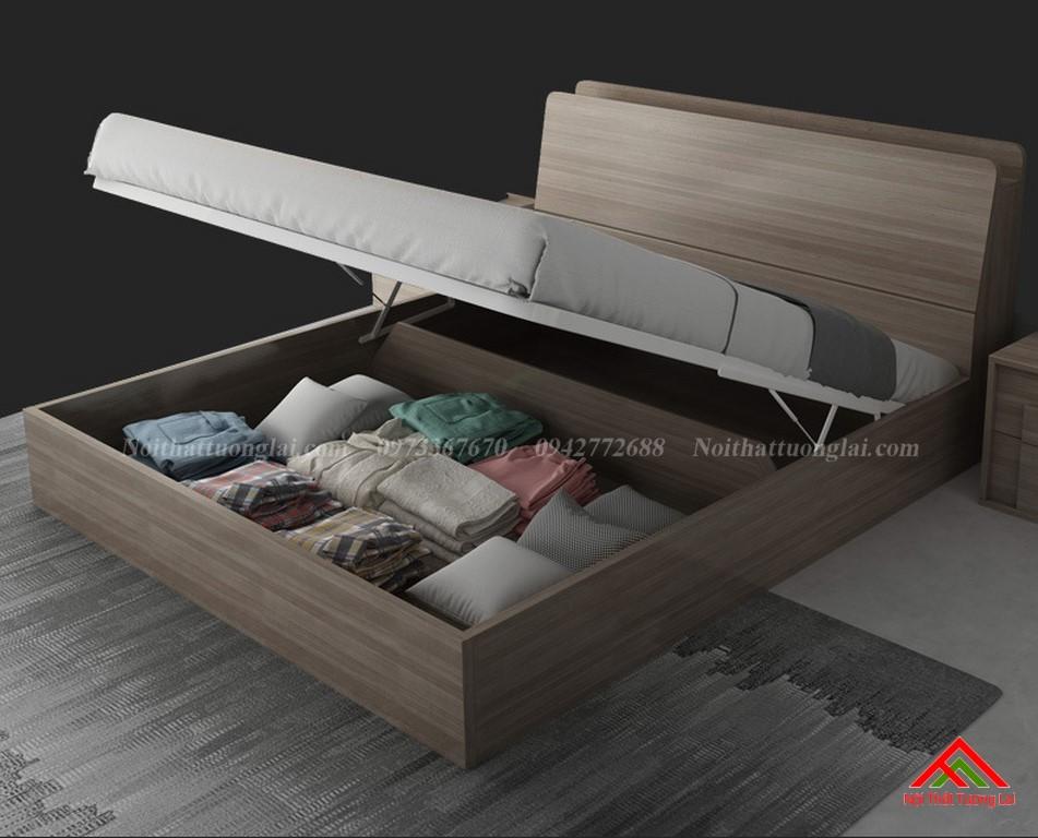 Giường ngủ hiện đại có hộc chứa đồ rộng GN6819