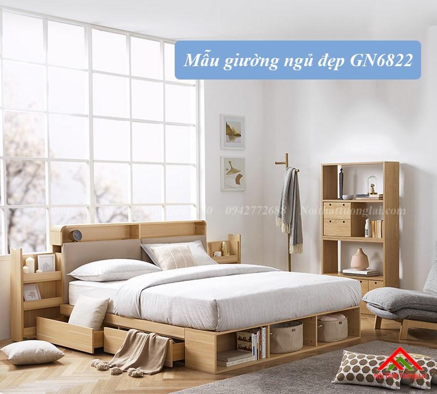 Giường ngủ hộp GN6822 với nhiều ngăn lưu trữ đồ đa dạng