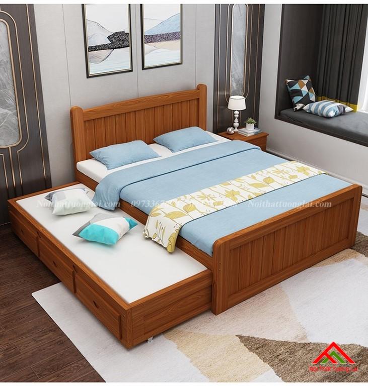 Giường ngủ trẻ em gỗ tự nhiên GB6802