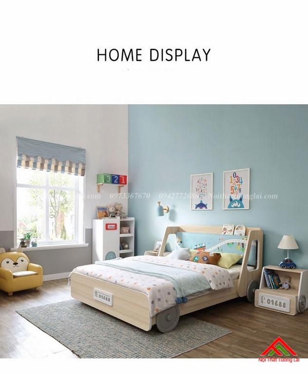 Giường ngủ trẻ em gỗ công nghiệp GB6801