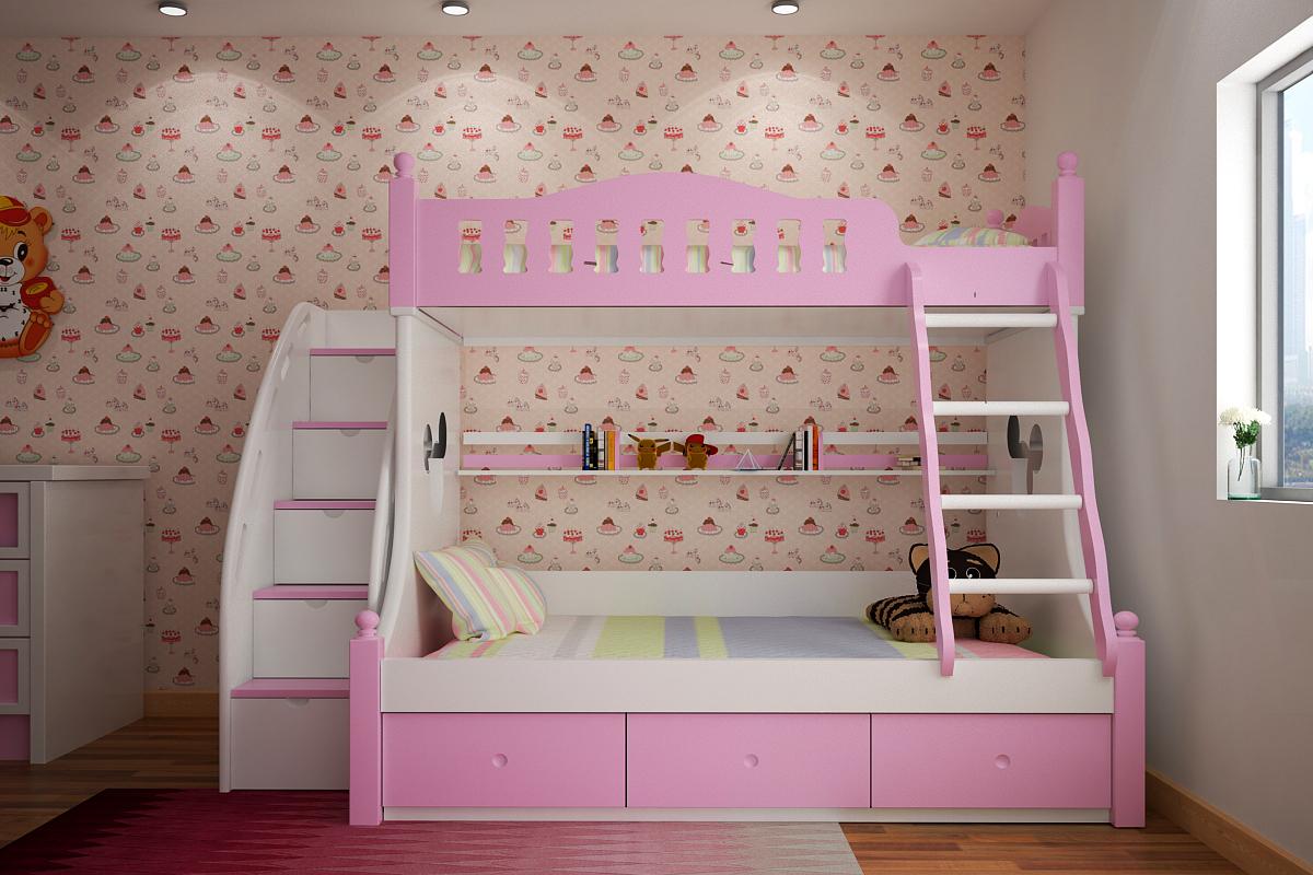 Giường tầng đẹp cho bé - An toàn, tiện dụng cho bé GT6827