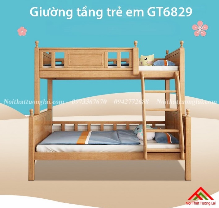 Giường tầng đẹp cho bé  GT6829