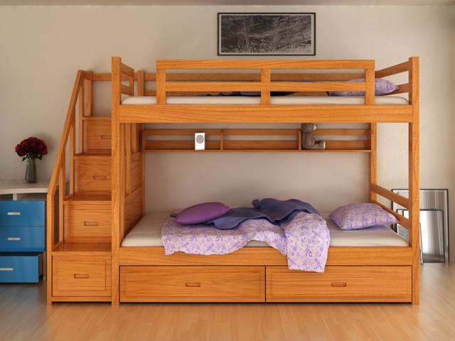 Giường tầng gỗ cao cấp GT6802