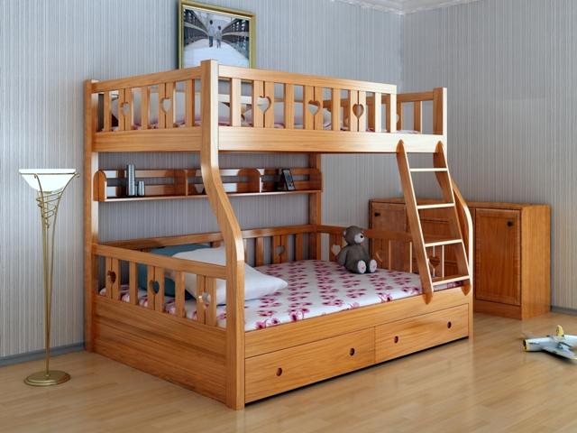 Giường tầng gỗ tự nhiên GT6820