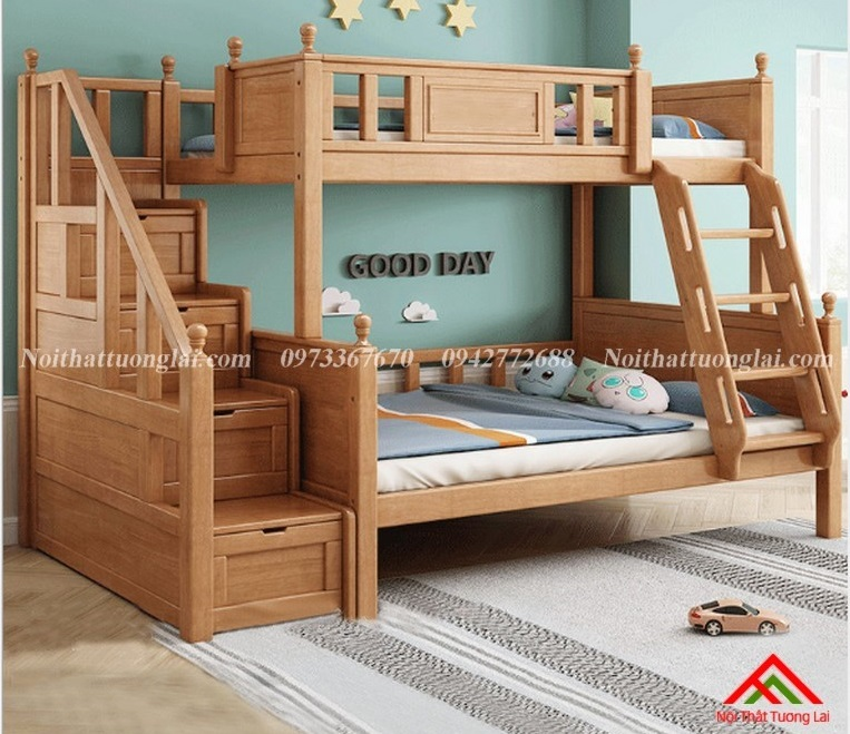 Giường hai tầng gỗ trẻ em GT6830