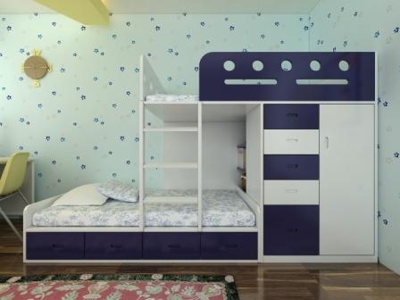 Giường 3 tầng trẻ em GT6806