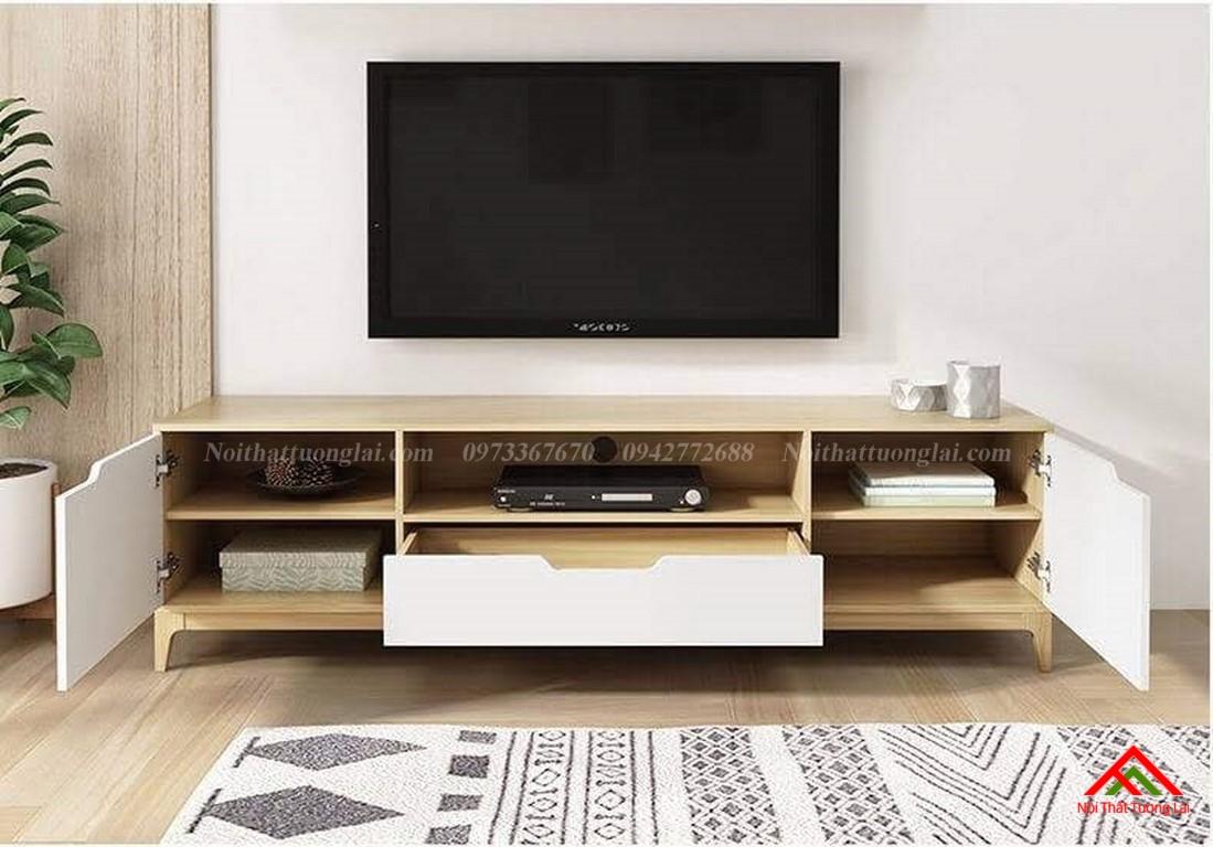 Kệ tivi gỗ công nghiệp KE6818 thiết kế hiện đại