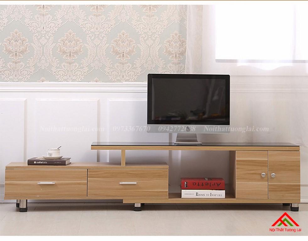 Kệ tivi gỗ mặt kính vẻ đẹp hiện đại KE6808