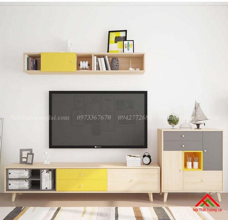 Kệ tivi kết hợp tủ treo tường KE6807