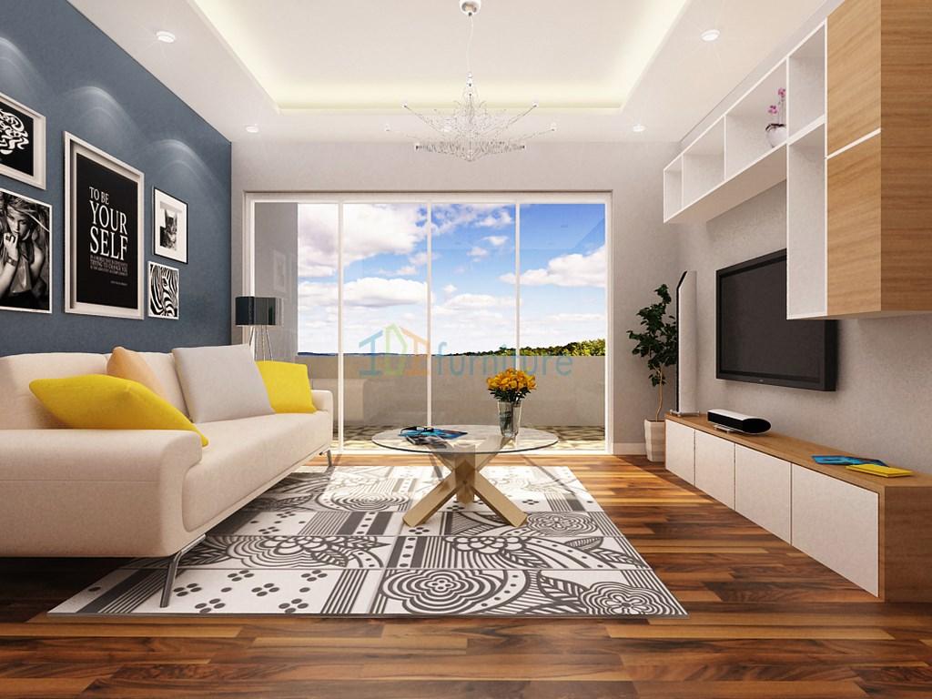 Thiết kế phòng khách chung cư TSQ Euroland  PK06