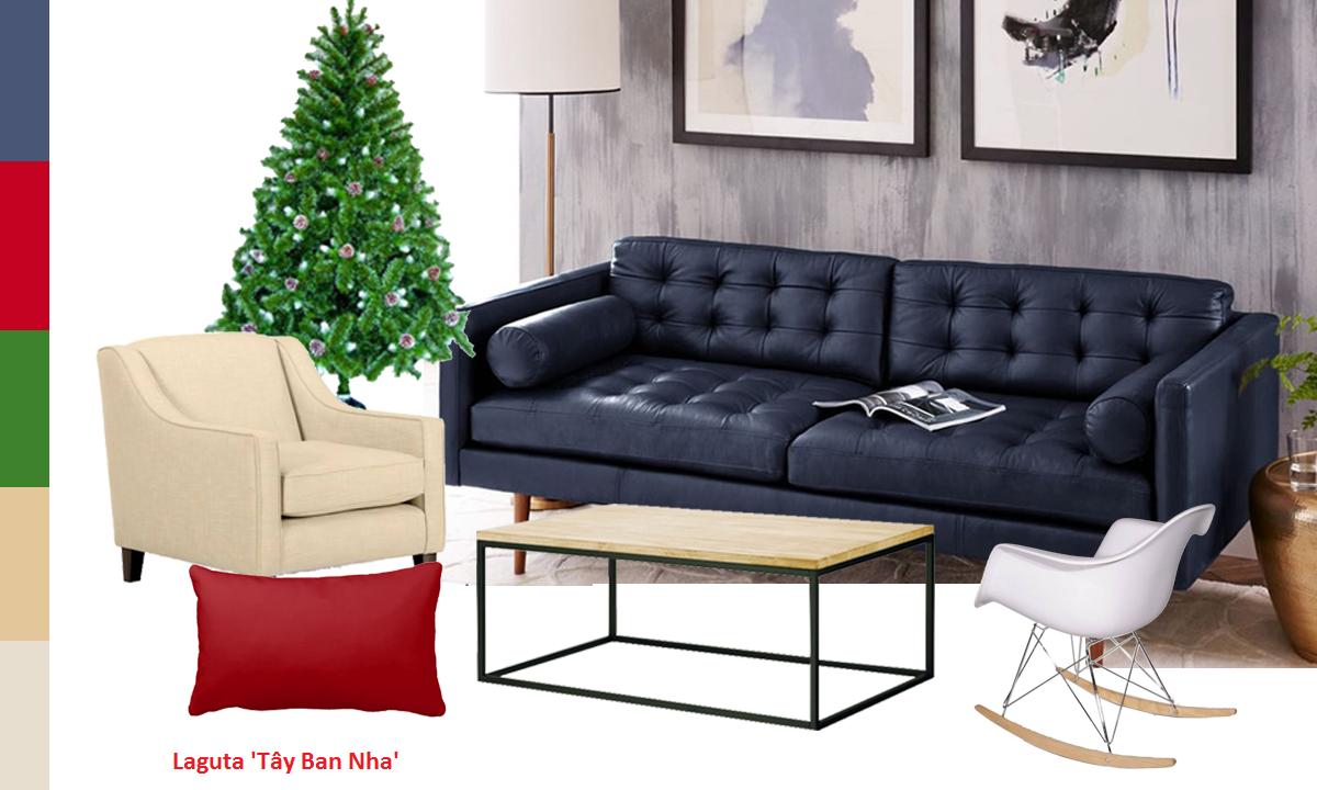 Bộ sofa da thật nỉ kết hợp spain SF6801