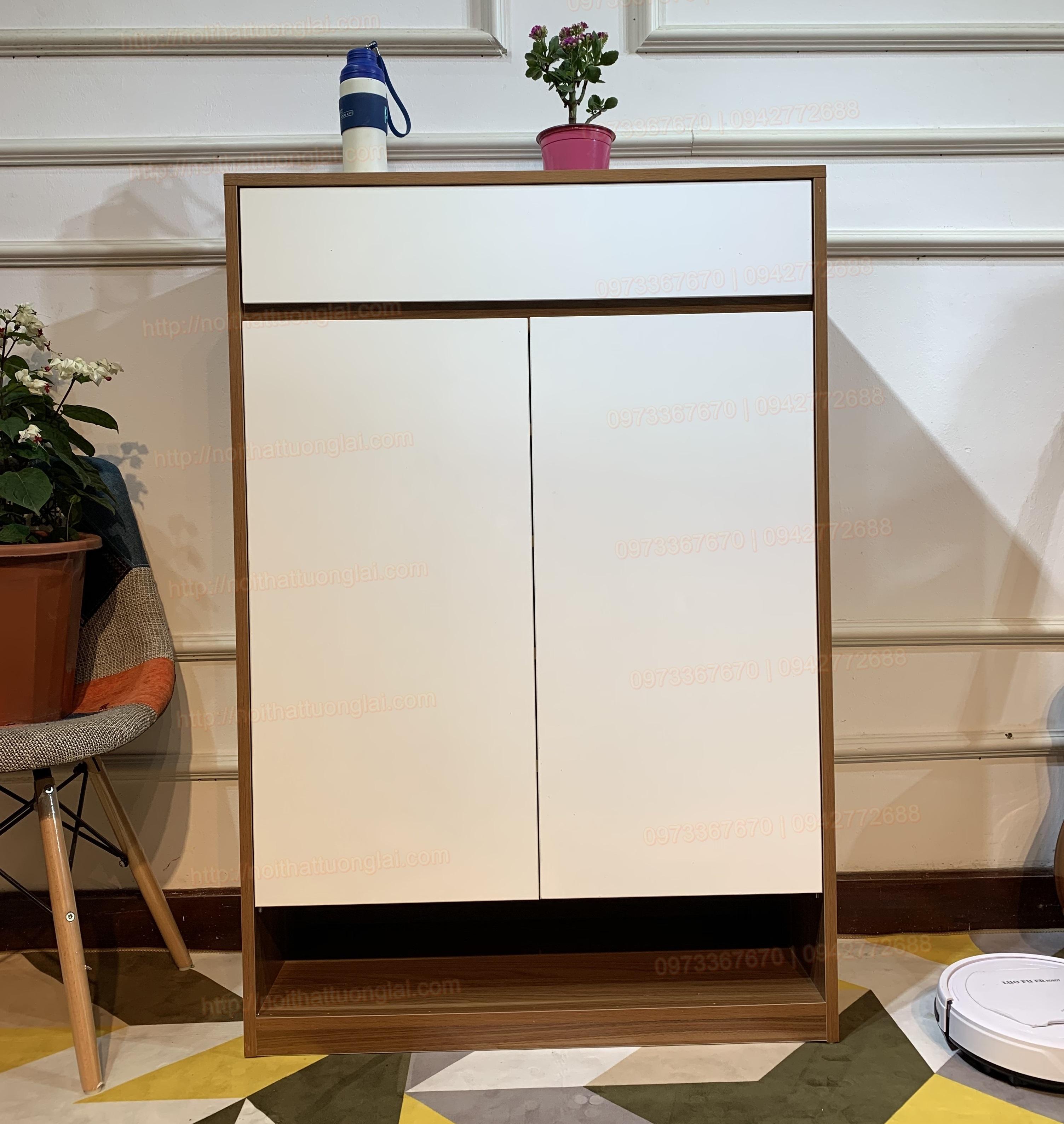 Tủ giầy đẹp thiết kế thông minh 80cm TG6802