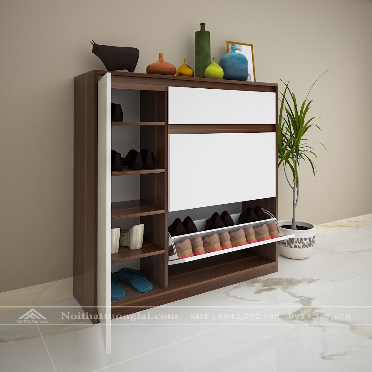 Tủ giầy đẹp thiết kế thông minh TG6802