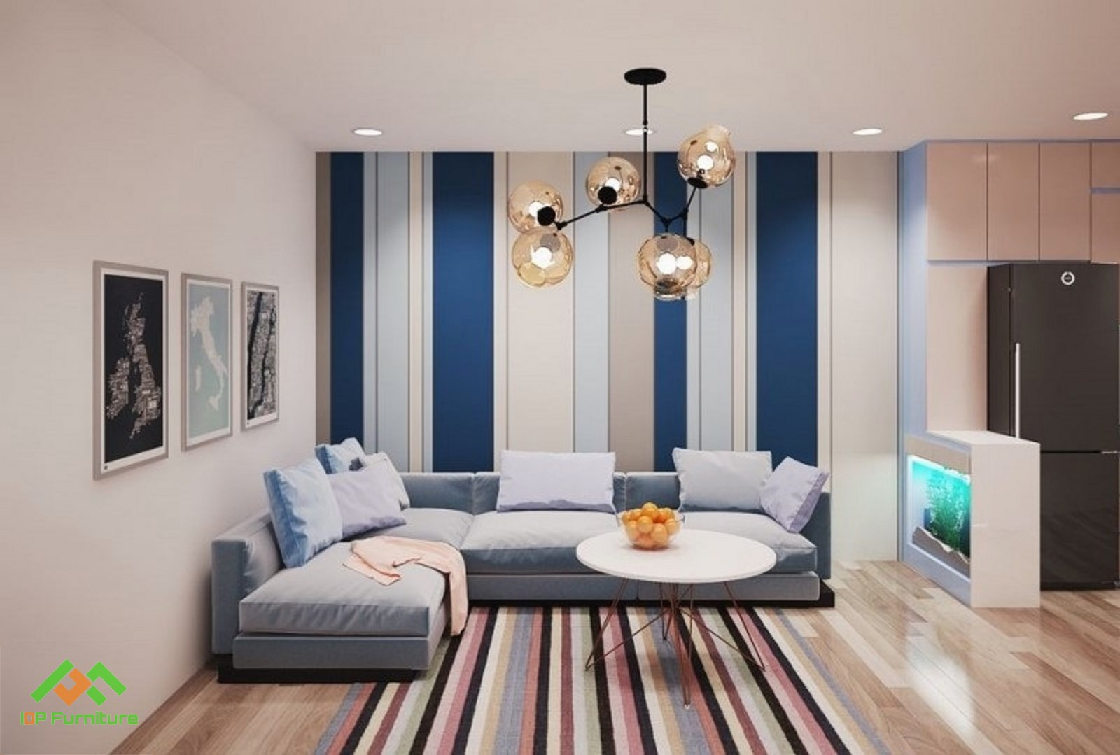 Mẫu sofa vải phòng khách hiện đại  SF6805
