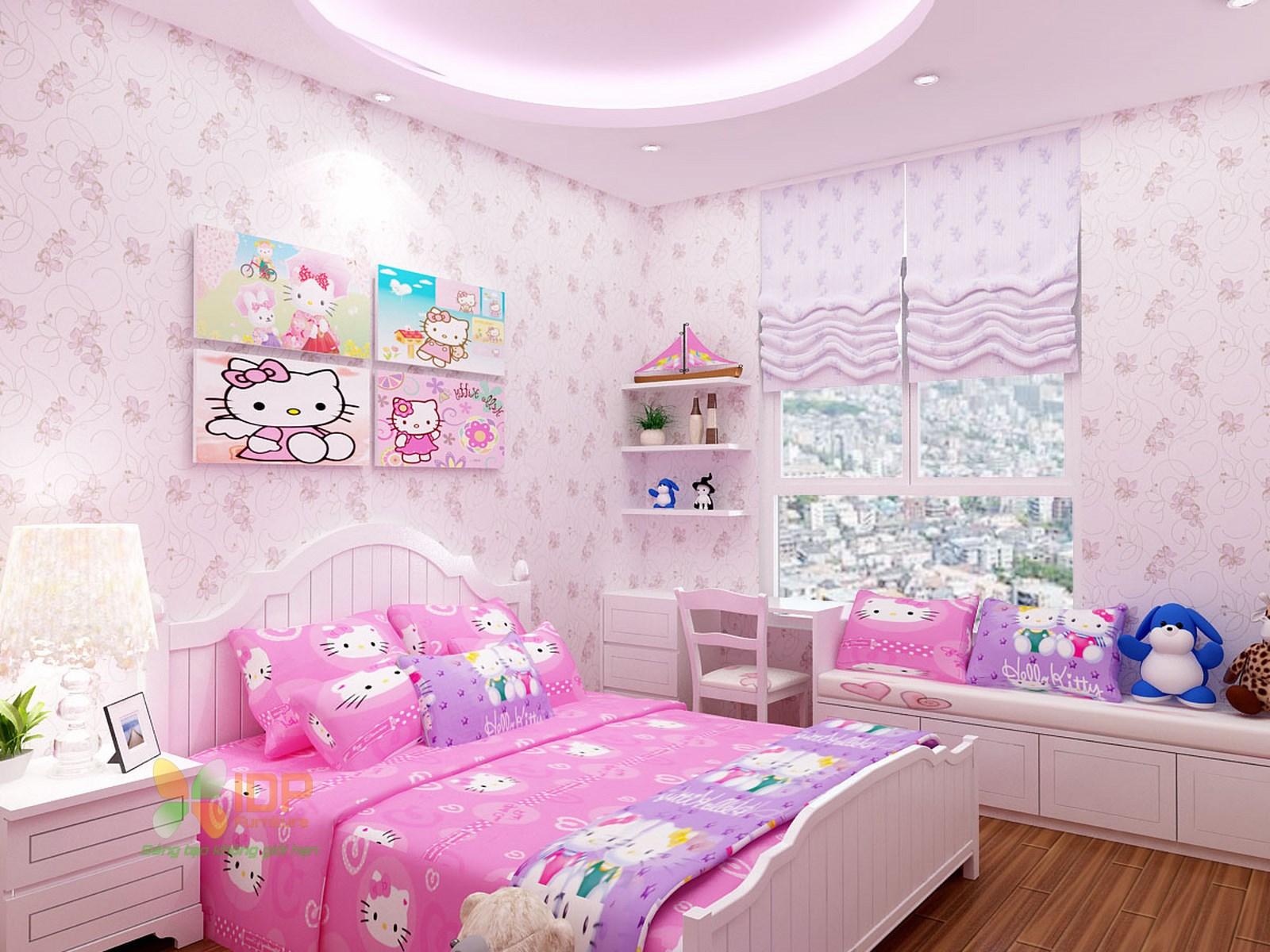 Mẫu phòng ngủ đẹp cho bé gái TE6804