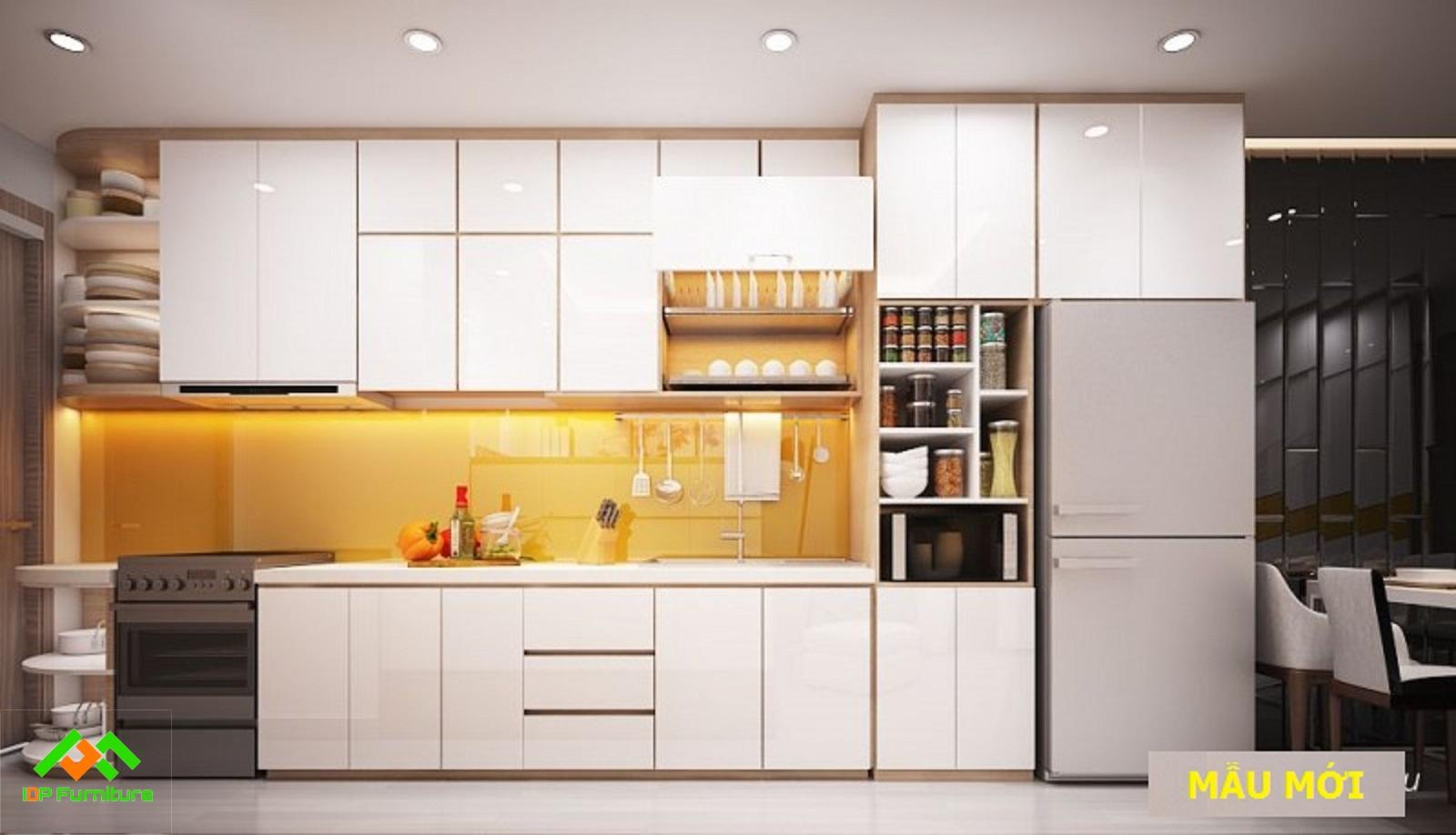 Tủ bếp nhựa hiện đại TB6817
