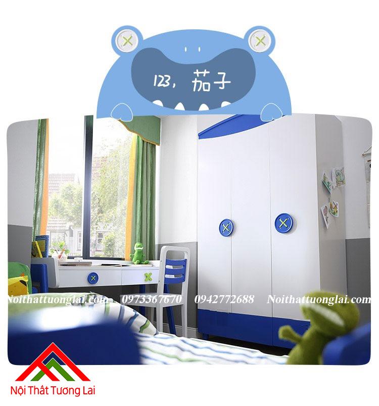 Tủ quần áo cho bé trai QA6805