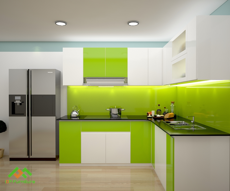 Tủ bếp Acrylic TB6819