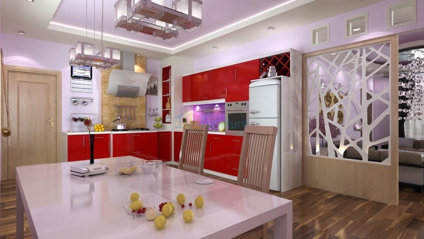 Mẫu tủ bếp Acrylic đẹp TB09