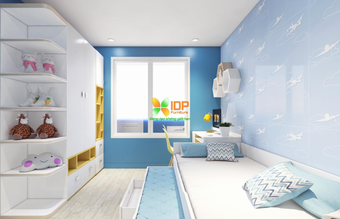 Mẫu phòng ngủ trẻ em chung cư mipec Long biên TE6803