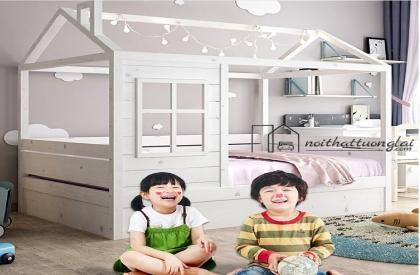 Giường ngủ cho trẻ em có mái nhà độc đáo GB6814