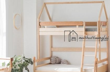 Giường tầng thiết kế đơn giản tinh tế cho bé GT6837