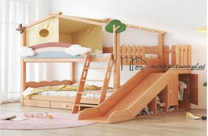 Giường tầng có cầu trượt, thiết kế cực đẹp GT6835