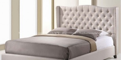 Top 3 mẫu giường ngủ đẹp bọc da nỉ dưới 10 triệu