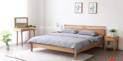 5 mẫu giường ngủ đẹp làm từ gỗ sồi giá dưới 10 triệu